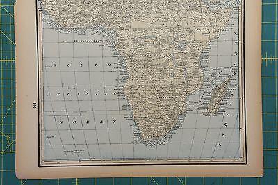 Africa Oceanica Vintage Original 1893 Columbian World Fair Atlas Map