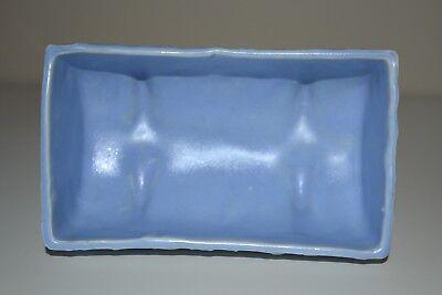 "Vintage McCoy Pottery Butterfly Blue Planter  Matte Blue 5 1/2"" 1930s 5"