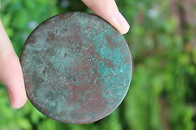 Genuine Islamic Persian Middle Eastern bronze mirror, circa 900-1100 AD 7