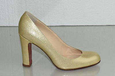 1f03417d8a62 ... NEW Christian Louboutin SIMPLE PUMP 100 Patent Beige Nude Glitter Shoes  37.5 5