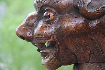 19C French Fantasy Carved Oak Griffin/Gargoyle Pair Elements 9