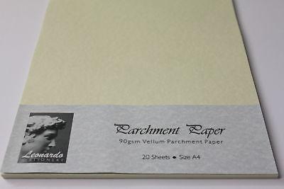 A5, A4, A3 PARCHMENT PAPER. PREMIUM QUALITY 90gsm VELLUM OR ANTIQUA. 2