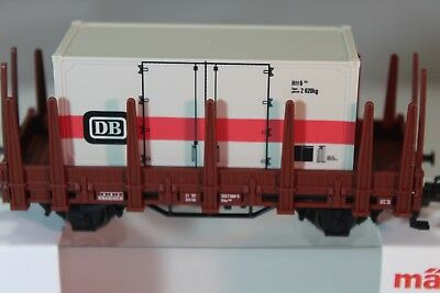 Märklin H0 48697  DB IV Rungenwagen mit Containern I+S   NEU//OVP
