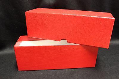 5 of 10 4 British Britannia Silver Coin Storage Box RED + 400 2½ x 2½ Coin Holder Flips & 4 BRITISH BRITANNIA Silver Coin Storage Box RED + 400 2½ x 2½ Coin ...