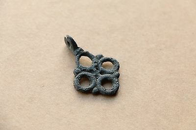 Beautiful RARE Viking Kievan RUS Pendant Cross 9-10 AD 3
