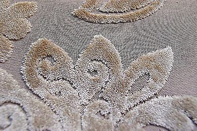 Craft Caravan Cushion Soft Furnishing Fabric Cream Velvet Floral Upholstery