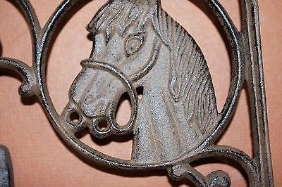 (5) Western Americana Horse Decor, Cast Iron, Shelf Bracket, Corbels, Wall Hooks 5