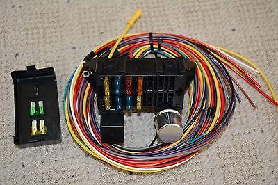 10 circuit basic wire harness fuse box street hot rat rod wiring car  truck 12v 2