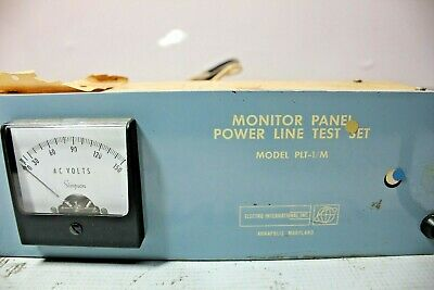 Electro International Plt-1/M Monitor Panel Power Line Test Set 2