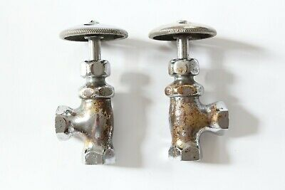 antique faucet shut off angle valve   standard wheel vtg victorian sink deco 6