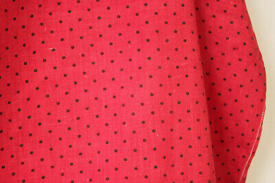 Antique Fabric Red & Black Polka dot French patched textile day bed canopy 2