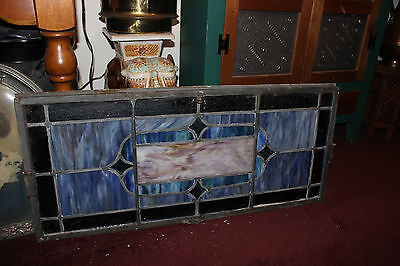 Antique Stained Glass Leaded Church Window-Religious-Eugene Bellinger-LARGE 7