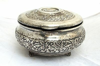 Vintage Arabian Military Silver Plated Box Coat of Arms Soldier Army Islamic 2