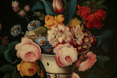 Impressive  Antique 19th Century French Painting Flower Still Life 3