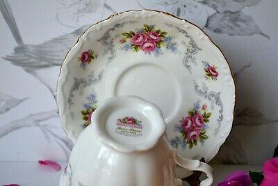 Vintage Royal Albert England TRANQUILITY Tea Cup Teacup Saucer Set, bone china 9