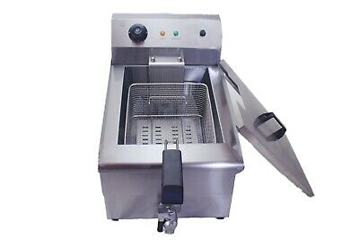 Commercial Large Chip Fryer 19 Litre tank  Electric Single Basket Deep Fat Fryer 2