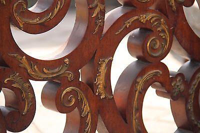 19C Italian Baroque Royal Palace Carved Gilded Oak Serpentine Hand Rail 5