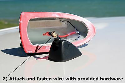 Functional AM//FM SILVER Shark Fin Antenna 2010-2014 GMC Terrain FITS