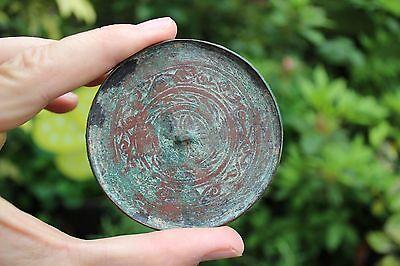 Genuine Islamic Persian Middle Eastern bronze mirror, circa 900-1100 AD 9