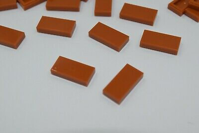 Lego 4x Tile Plate Smooth 1x2 with Groove Dark Orange Dark 3069b New