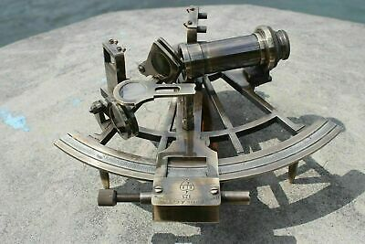 "Nautical Marine Navigational Astrolabe Instrument Brass Sextant 8"" Antique Gift 5"