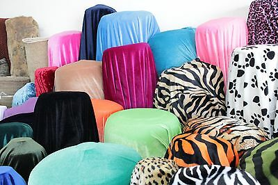 """Stretch Velvet Fabric Costumes Craft, Apparel, Upholsters 60""""W 30 Color By Yard 6"""