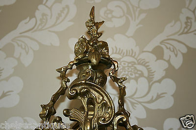ANTIQUE CLOCK Louis XV French Bronze Gilt Ormolu H51cm Tall/Large Ornate/Rococo 10