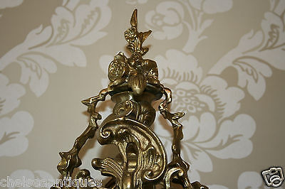 ANTIQUE Louis XV French Bronze Clock Gilt Ormolu Mantel Tall/Large Ornate/Rococo 7