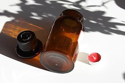 Apothekerflasche, Form selten, rund, alt, CHLORAMIN. SCHLIFF STOPFEN breite