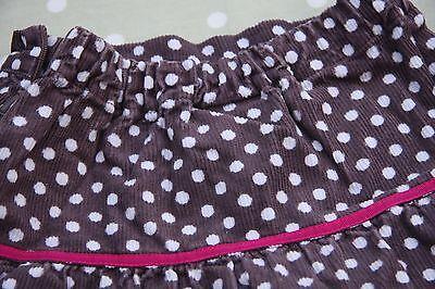 John Lewis girls skirt - Borwn with white spots - Age 2 years 2
