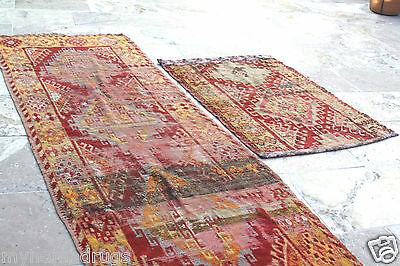 Stunning Antique Tribal Divan Dowry Runner Pile Rug c1920s Collector item Turkey 6