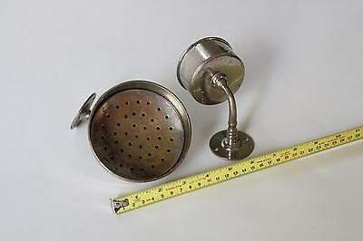 antique bathroom cup soap holder | vtg brass nickel victorian bath tumbler 11