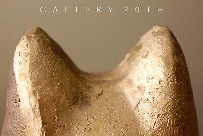 Magnificent Egyptian Bastet Polychromed Clay Sculpture! Cat God Feline Vtg 6