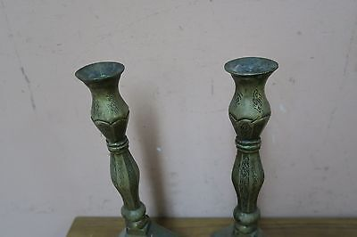 """Pair @ 2 Vintage Islamic Arabic Indo Persian Candle Holder Calligraphy Verse 11"""""""