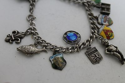 Antique Authentic Hand Made Charming Silver Coins Woman Chain Bracelet 5