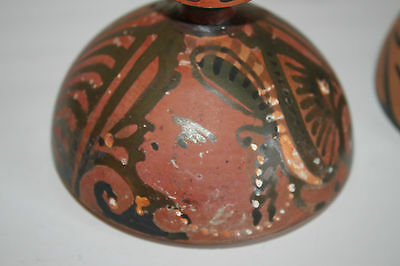ANCIENT GREEK POTTERY RED FIGURE SHERE PYXIS 4th CENTURY BC 3