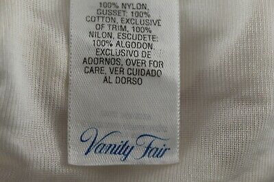 Vanity Fair Sheer Nylon Hi Waist Briefs Ivory Size 5/40 Vtg 5