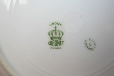 LIMOGES CORONET FRANCE (8) Soup Bowls 8\