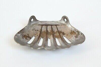 antique bathroom kitchen corner soap holder | vtg art deco victorian bath nickel 11