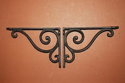 "(2)pcs. SMALL ELEGANT CAST IRON SHELF BRACKETS,6 5/8"" SHELF BRACKETS,CORBEL B-5 4"