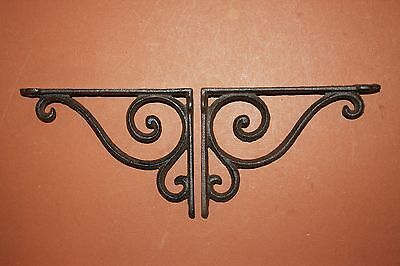 "(4)pcs. SMALL ELEGANT CAST IRON SHELF BRACKETS,6 5/8"" SHELF BRACKETS,CORBEL B-5 3"