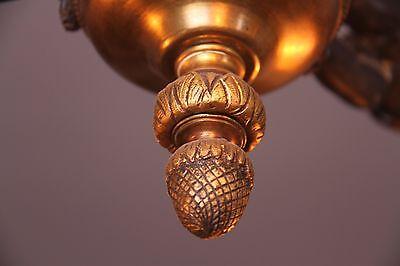 19C French Gilded Bronze Cherub Chandelier 10