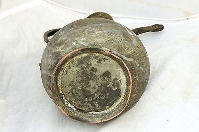 Antique Islamic Turkish Ottoman Ibrik Tall Pot Copper Arabic 19C 5