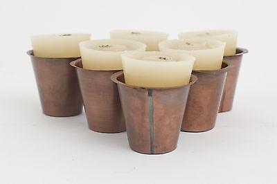 6-Sugar Mold Candles Vanilla Scented-Mexican-Rustic-Long Burning-Candleholder 2