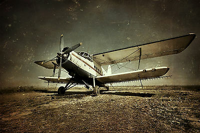 Old Military Plane Wall Mural Photo Wallpaper Giant Decor