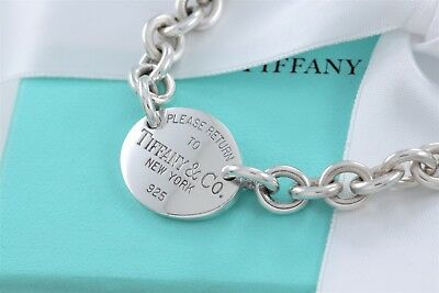 20b8b27e2 ... Please Return To Tiffany & Co Silver Oval Tag Love Charm Bracelet 7.25