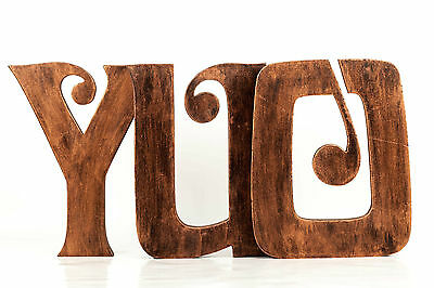 Extra Large 8 Inch 20 Cm Vintage Wooden Letters Free Standing A To Z Alphabets