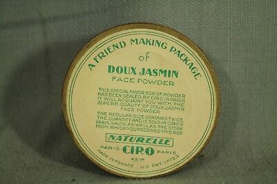 rare vintage old Powder Box Friend making package Doux Jasmin France flowers 5