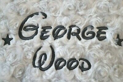 Personalised Baby Blanket Embroidered Soft Fluffy Disney Gift 11