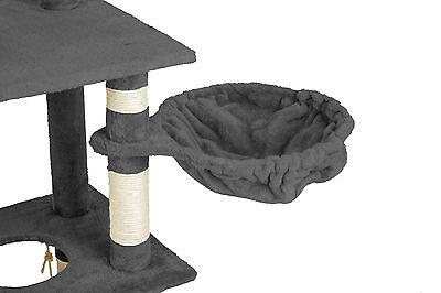 Arbre à chat griffoir grattoir animaux geant avec hamac lit 141 cm hauteur gris 4